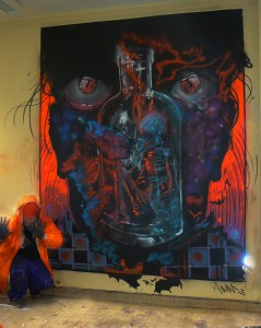 INNERSELFIE THE VISION NEVER DIES WALLPAINTING BY KLAAS VAN DER LINDEN
