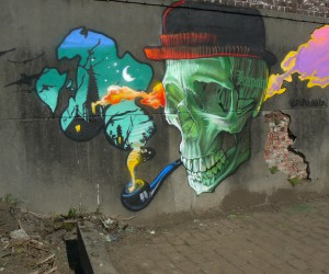 NEW WALLPAINTING AT KAPOW BY KLAAS VAN DER LINDEN