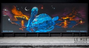 Polluted Pelican by Klaas Van der Linden in Brussels Belgium.